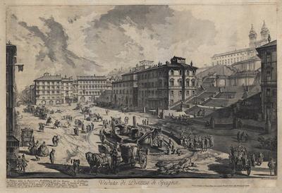 View of the Pizza di Spagna (Veduta di Piazza di Spagna) (c.1761)