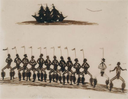 Tommy McRae, Corroboree, c.1890. University of Melbourne Archives