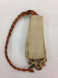 Carved Inuit needle case recently used in one of the Grainger Museum's teaching programs. Grainger Museum, University of Melbourne