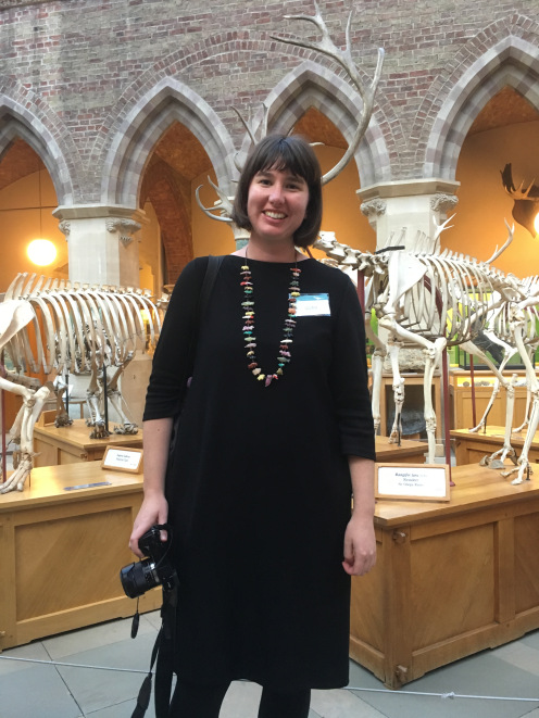Irene Finkelde at the Natural History Museum, Oxford